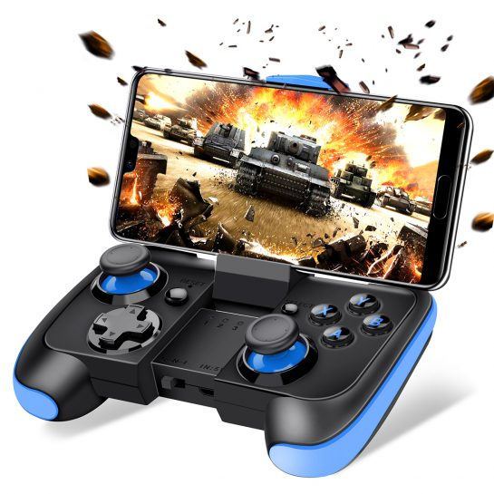 BEBONCOOL Wireless Game Controller For Android Phone/Tablet/Samsung Gear VR/Game Boy Emulator (Blue)