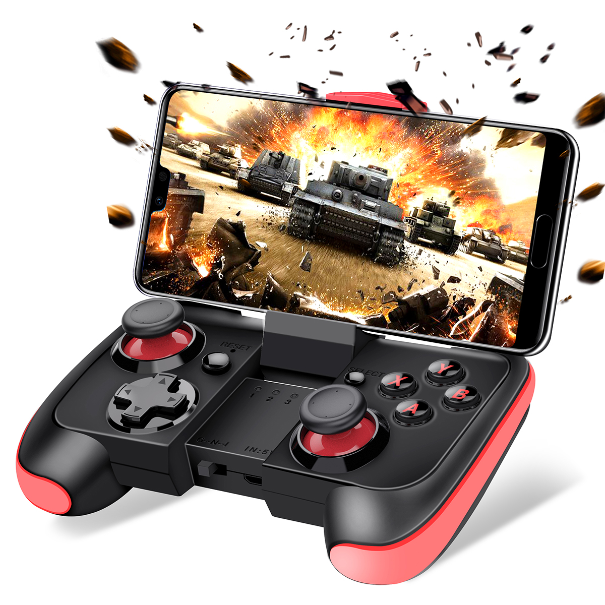 BEBONCOOL Wireless Game Controller For Android Phone/Tablet/Samsung Gear  VR/Game Boy Emulator(Red)