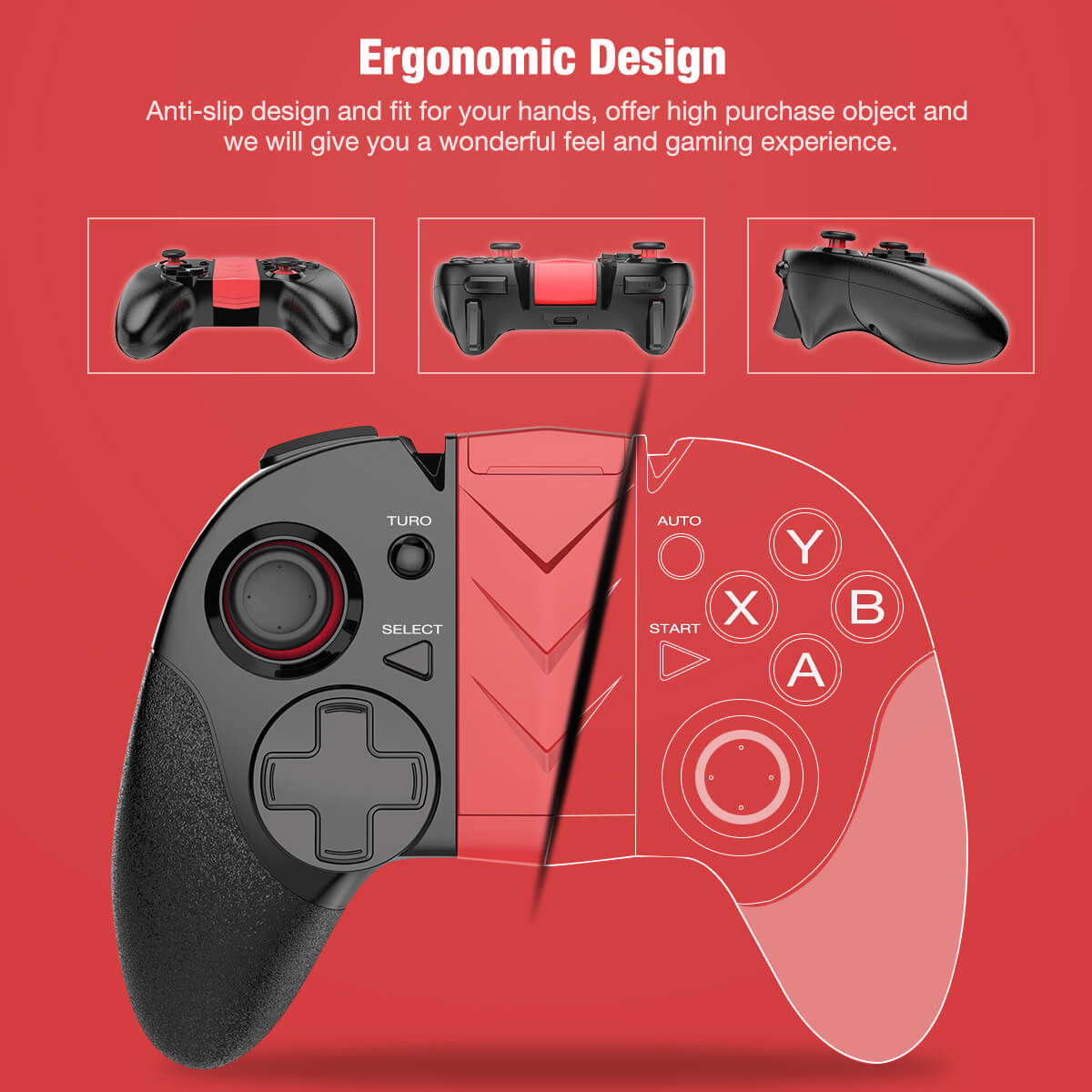 BEBONCOOL Bluetooth Game Controller For Android Phone
