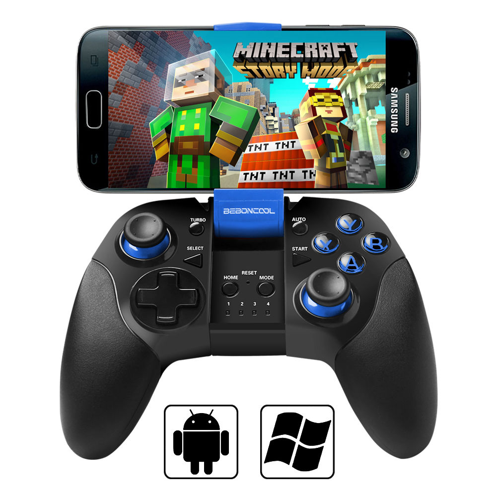 BEBONCOOL Bluetooth Game Controller For Android Phone ( Tablet / TV Box /  Samsung Gear VR / Emulator)-Blue