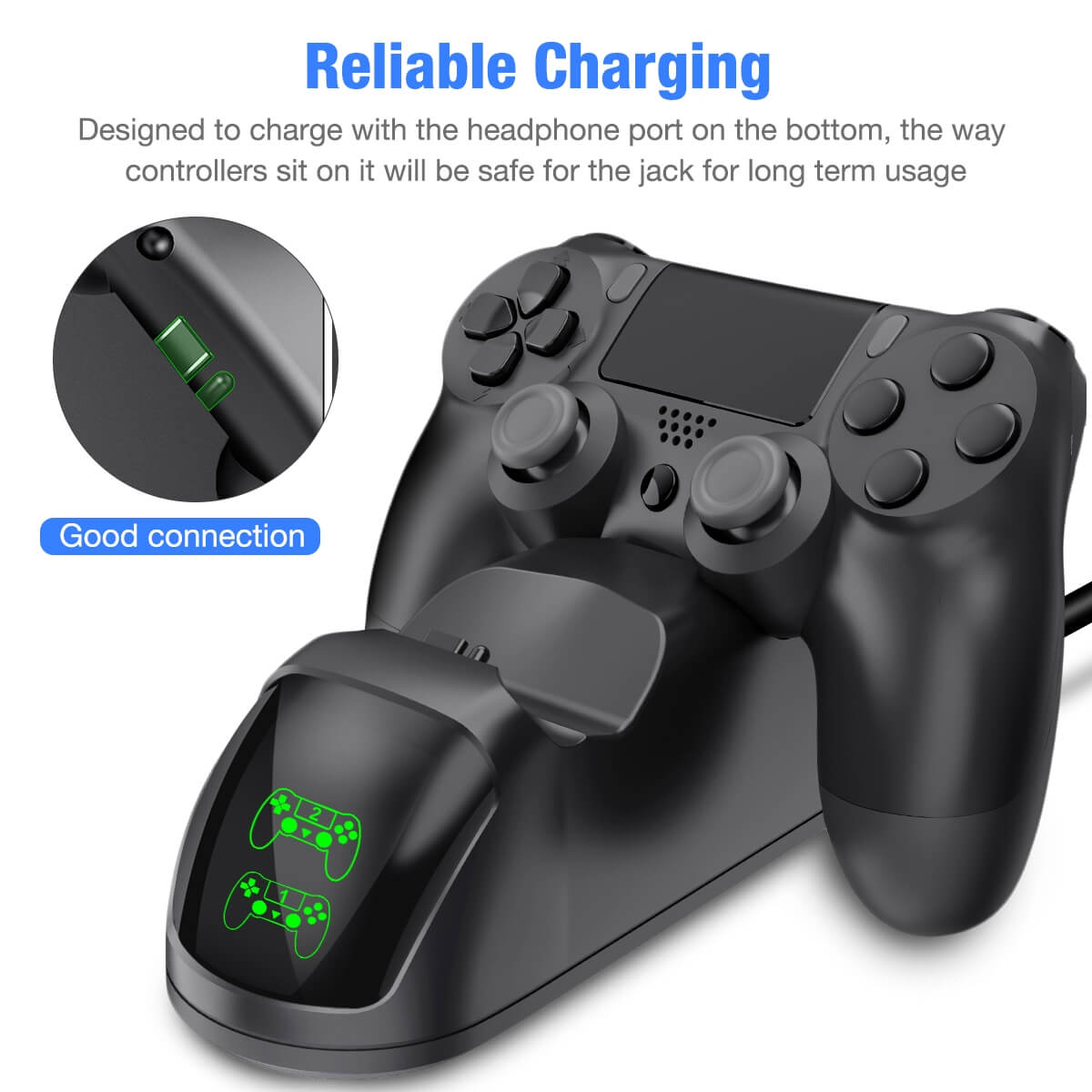 PS4 Controller Charger For Sony PlayStation 4 Controller (4)