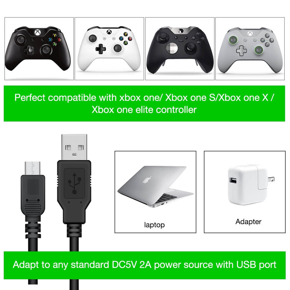 BEBONCOOL Xbox One Controller Charging Station Dock For Xbox One / One S /  One X Controller