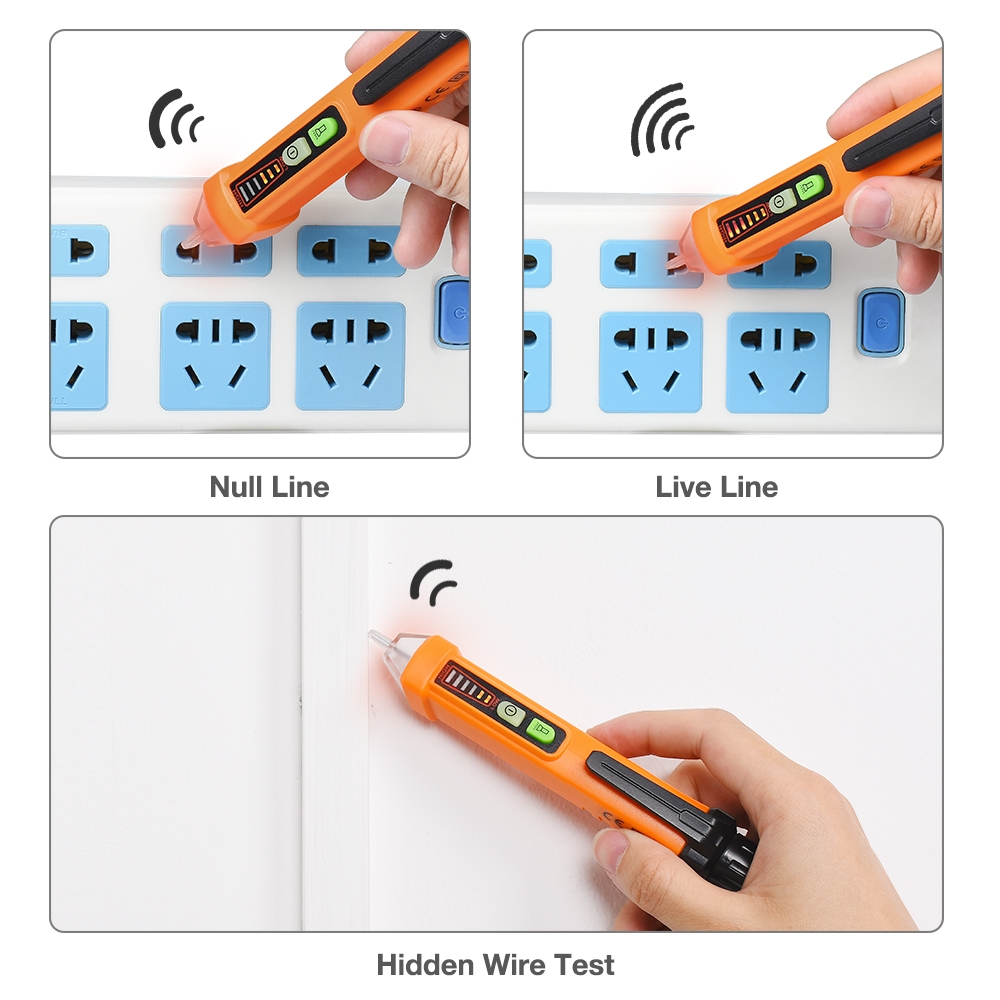 Non Contact Voltage Tester Beboncool Electrical Detector Tools Home Improvement Testers Pen 12 1000v Ac Inductive Electric Digital Multi Meter Volt With Alarm