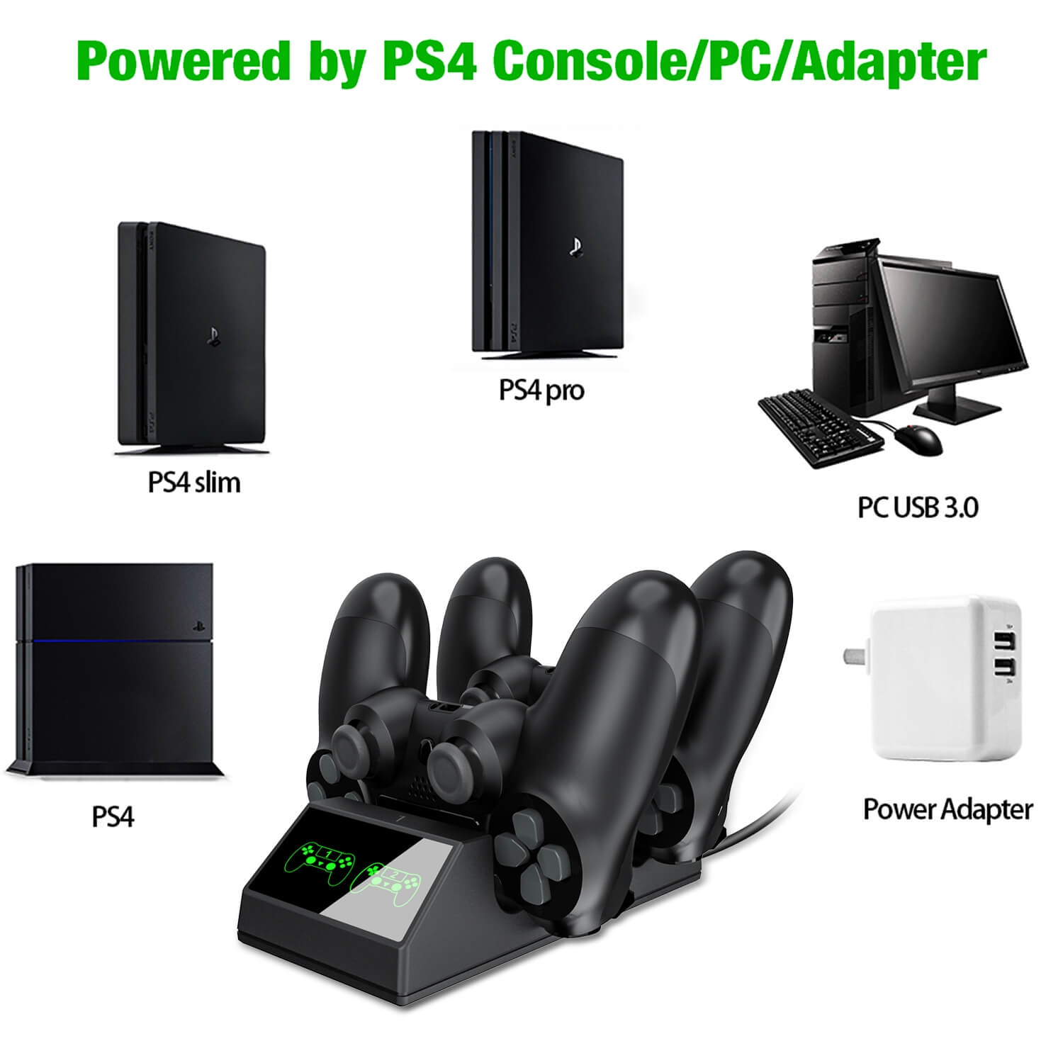 PS4 Controller Charger With USB For Sony PS4 (7)