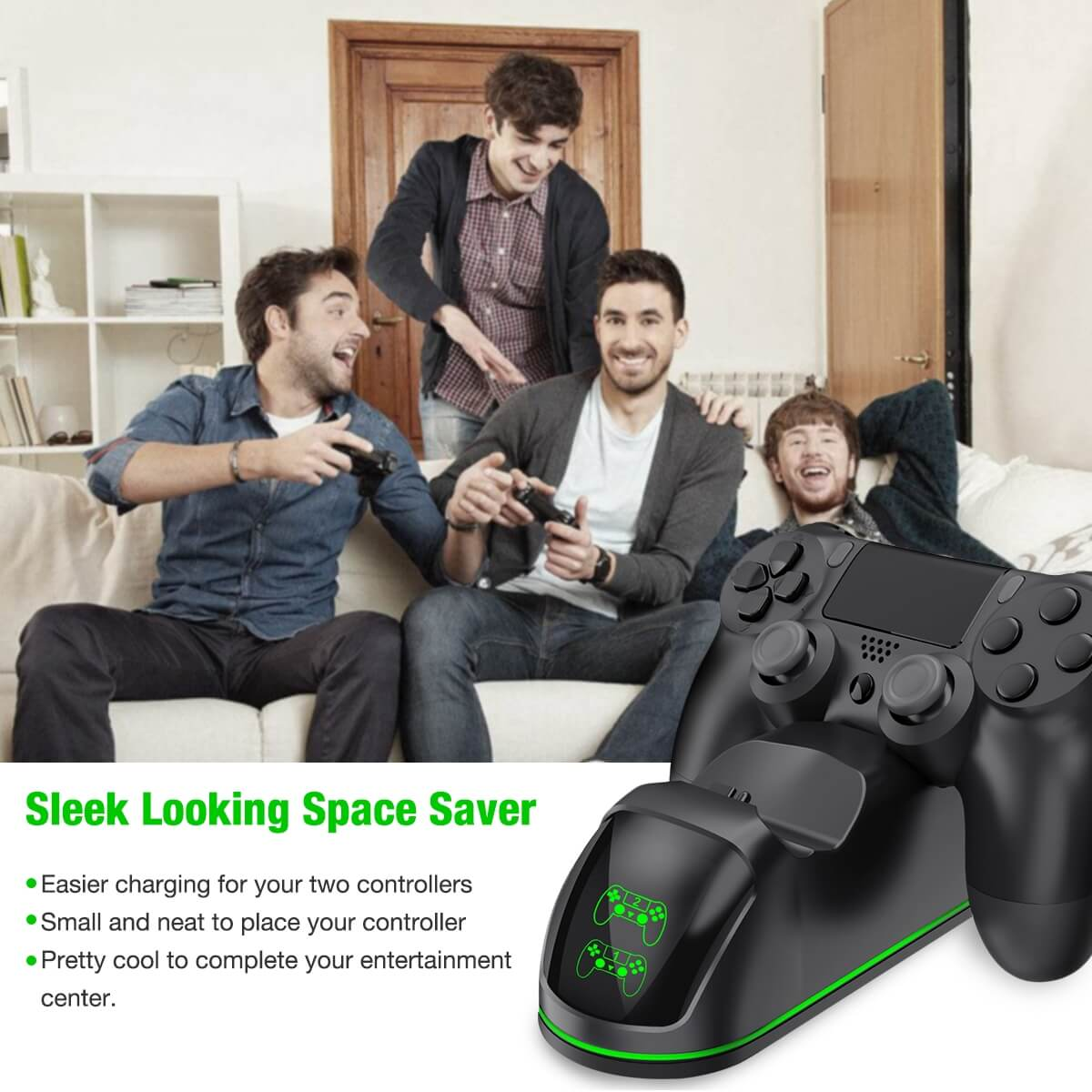BEBONCOOL PS4 Controller Charger for PlayStation4