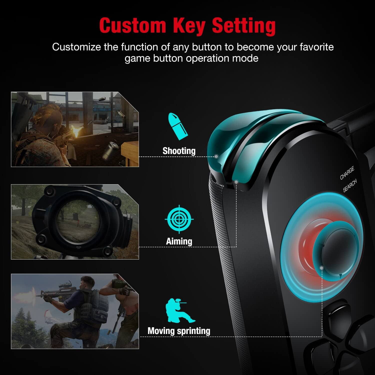 BEBONCOOL wireless android game controller