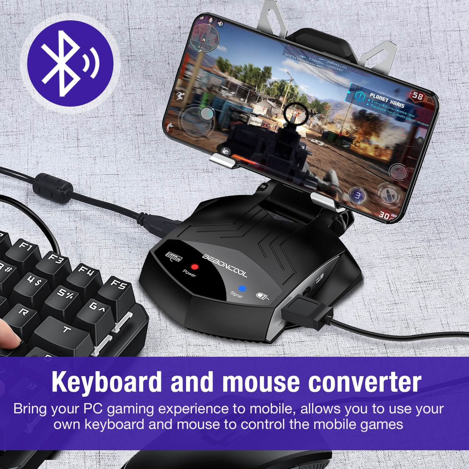 BEBONCOOL BattleDock Keyboard and Mouse Converter