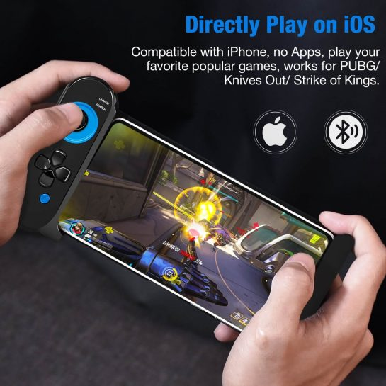 Q47 BEBONCOOL Wireless Game Controller with Retractable Telescopic for iPhoneTablet