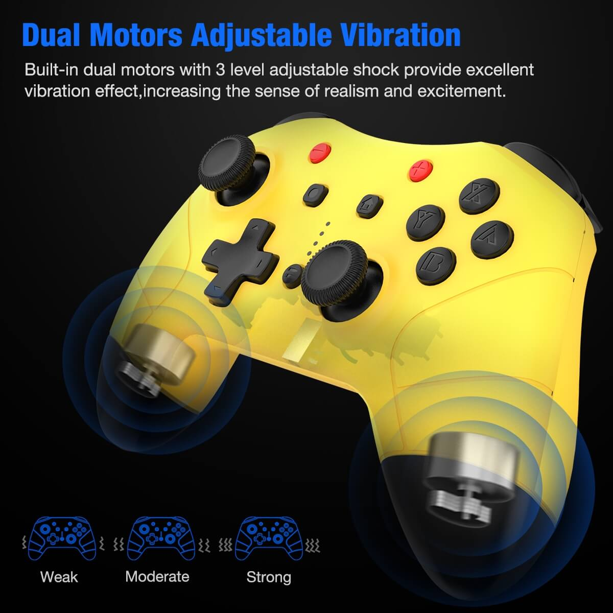 BEBONCOOL Wireless Controller for Nintendo Switch Pro Controller Remote  with Motion Vibration